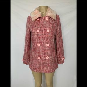 Guess Women's Size Small Tweed Coat